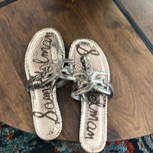 Sam Edelman pewter sandals BNWOT !! 7.5
